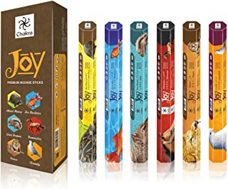 chakra Joy Premium Natural Incense Sticks - 20 Sticks Per Box - Use It at Home or Workplace – Alluring Aroma Sticks - Pack...