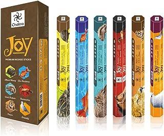 chakra Joy Premium Natural Incense Sticks - 20 Sticks Per Box - Use It at Home or Workplace – Alluring Aroma Sticks - Pack of 6 Fragrance Sticks Create Peaceful Aura