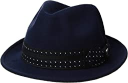 Ultra Felt Fedora with Fancy Tie Overlay