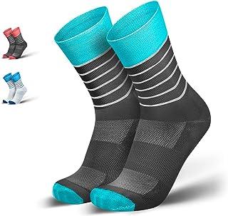 INCYLENCE, Calcetines funcionales para Correr y Ciclismo Fabricados en Microfibra Dryarn® Ultraligera para una transpirabilidad inigualable, Anti-ampollas y antiolor