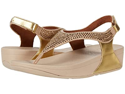 FitFlop Skylar Crystal Toe Thong (Vintage Gold) Women