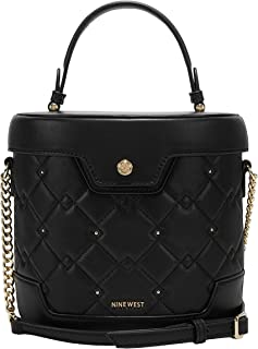 NINE WEST Women's NGQ110373 Synthetic Handbag, Black