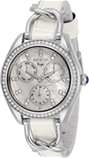 Invicta Women's Angel Quartz Watch with Stainless Steel Strap, White, Silver, 17 (Model: 31205)