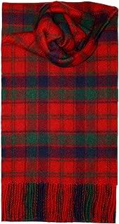iLuv Robertson Red Tartan Scarf Modern Lambswool