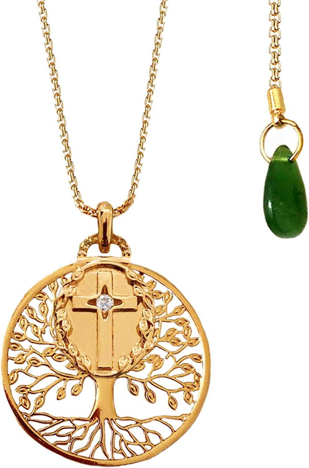 Sun Roots Inc Tree Save money of Life Seattle Mall Cross Charm with S Necklace Pendant