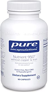 Pure Encapsulations - Nutrient 950 Without Copper & Iron - Hypoallergenic Multi-Vitamin/Mineral Formula for Optimal Health...