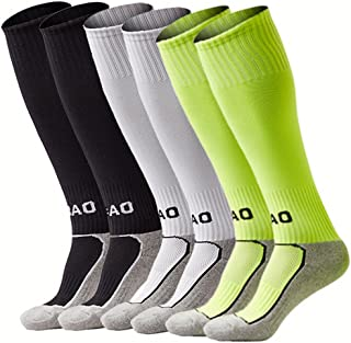 xikun Kids Soccer Socks Boys Girls Knee High Long Sport...