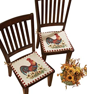 Collections Etc Rooster Chair Cushions - Set of 2