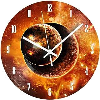 GYJCD Sun Reloj De Pared Digital Decorativo Números Árabes Modernos Reloj De Registro Silencioso Shabby Chic para La Decor...