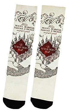 Harry Potter Marauders Map Sublimated Adult Crew Socks