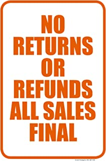 No Returns Or Refunds All Sales Final | Easy to Mount Parking and Street Sign | 12