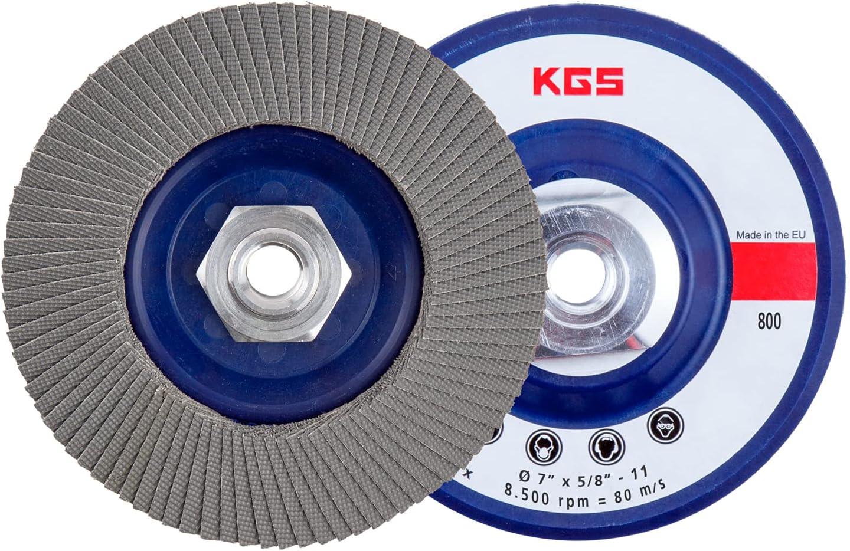 KGS PRO Diamond flap disc 7 inch 8 inch-11 Metal Detroit Special Campaign Mall Thread 5 x Ada