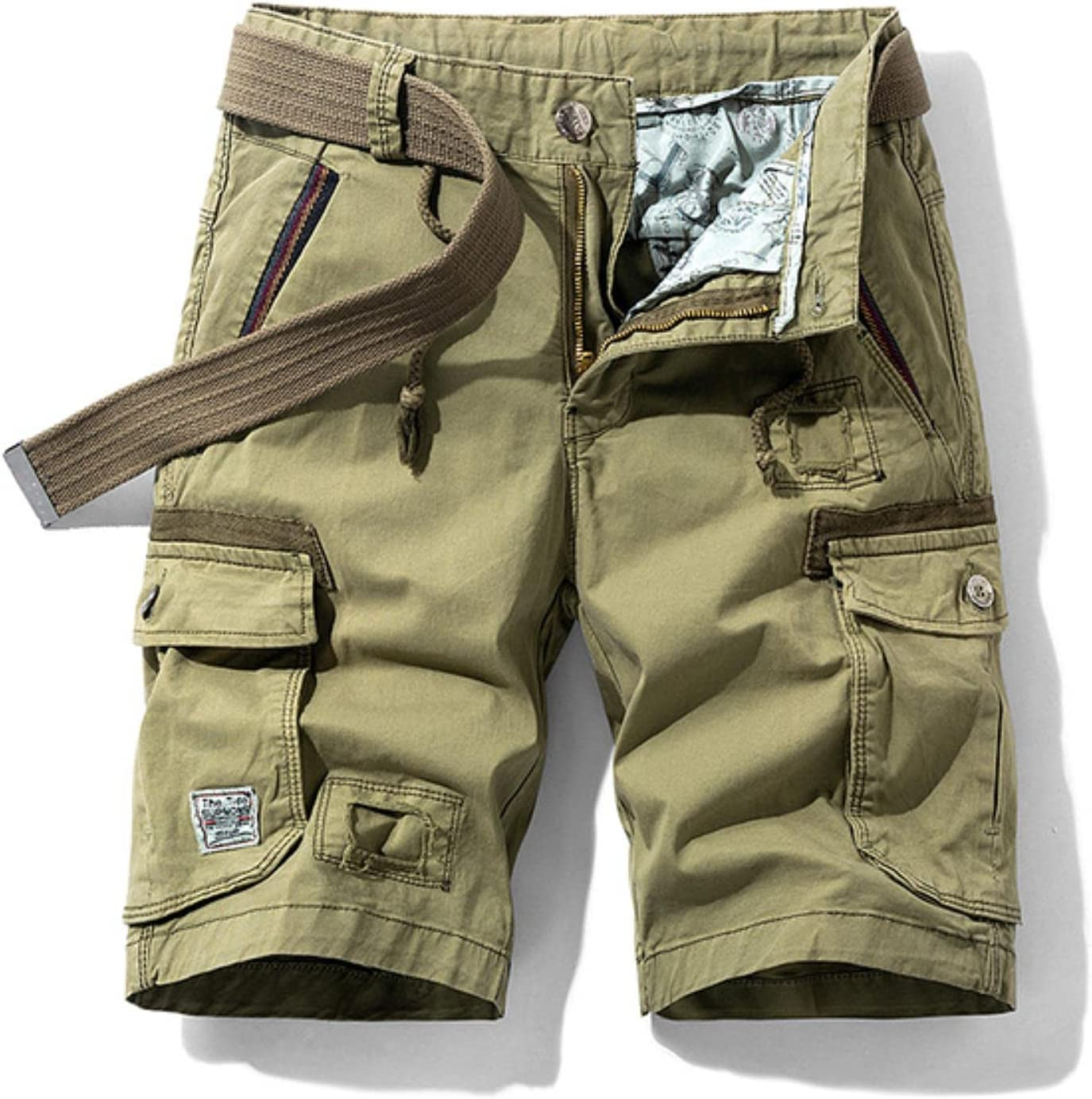 2021 Summer Cotton Cargo Shorts Men Casual Multi-Pocket Military Shorts Pants Loose Work Army Tactical Shorts Men
