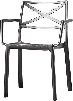 Keter Metalix Outdoor Garden Chair, Multicoloured