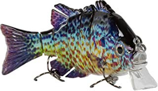 Sunrise Angler 4 Inch Bluegill Jointed Swimbait   Sinking Hard Bait Fishing Lure for Freshwater Game Fishing with Textured Lifelike Skin, Curvy 'S' Swim and 3D Prismatic Eyes