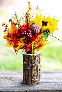 Shop2Beat 100% Handmade - Indian Vases - Decorative Flower Vase - Wood Vase - Rustic Log Vase - Floral Arrangement - Wooden Gift - Centerpiece - Ideal for Living Room, Kitchen, Office, Table (6