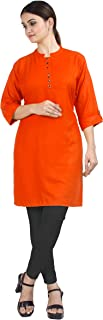 Chandrakala Women's 100% Cotton Indian Ethnic Tunic Top Kurti Kurta(K101)