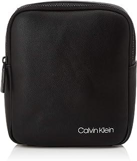 Calvin Klein - United Pu 2g Mini Reporter, Shoppers y bolsos de hombro Hombre, Negro (Blackwhite Black), 1x1x1 cm (W x H L)