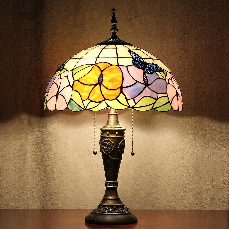SBB Schmetterlinge Muster Tischleuchte, 2-Licht, Resin Glasmalerei 110-120V B07LH5QTXL | Quality First