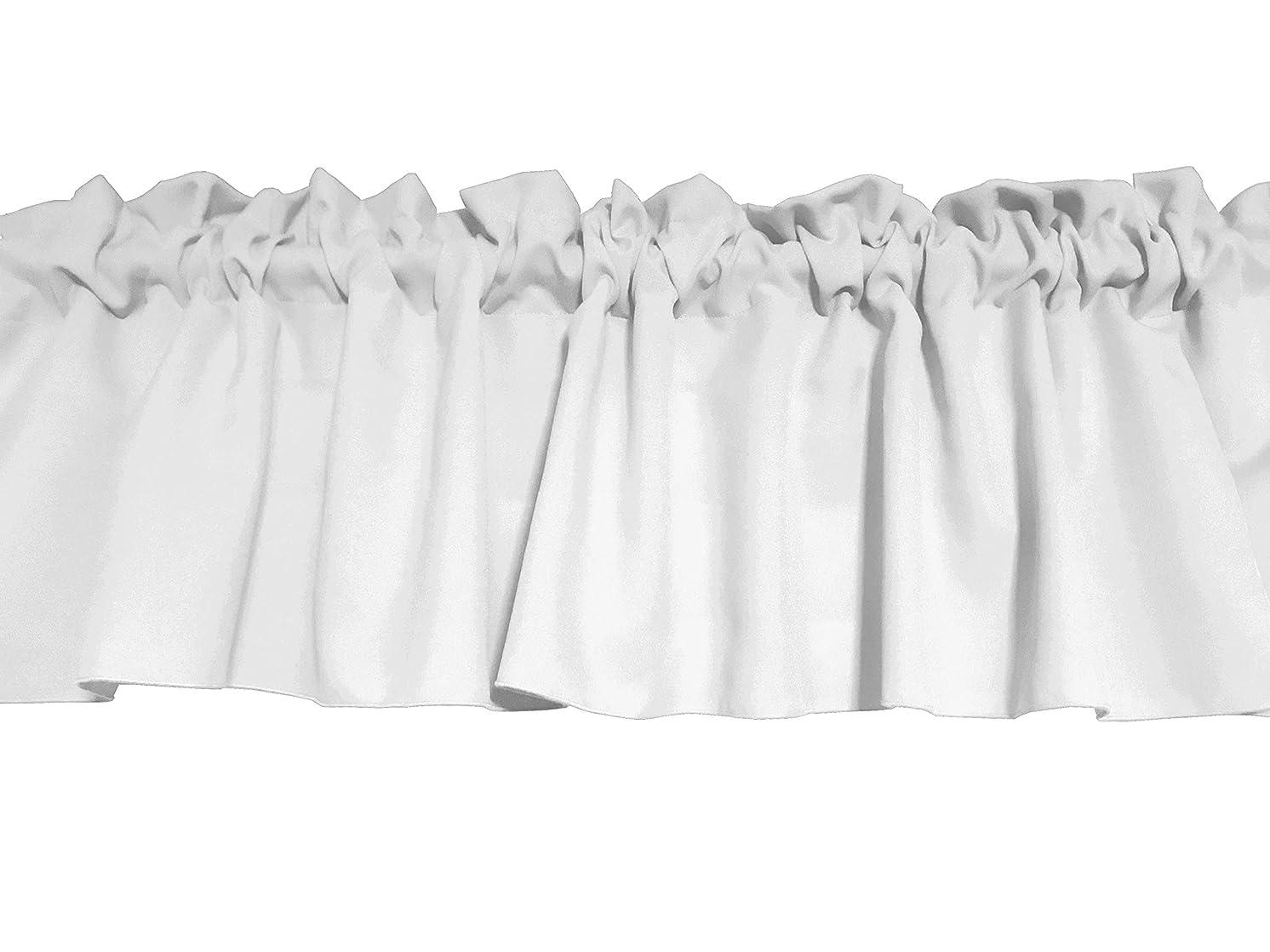 Zen Creative Designs Solid White Poplin Window Valance 58 Inch Wide (16