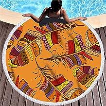 Zachte Strandhanddoek, Creatief Zwemmen Deken Met Omzoomde Microfiber Badhanddoeken Yoga Mat Meditatie Mat Sjaal Strand Ma...