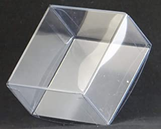 OREO Cookie 1 Piece Clear Favor Boxes with Silver Insert (for Chocolate Molded Oreo Cookies) for Weddings, Showers, Birthday Parties, and Special Events (10) (50)
