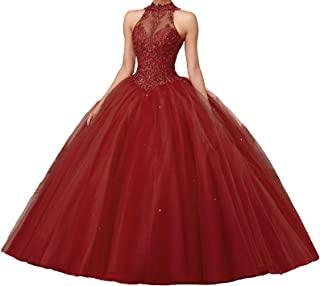 burgundy quince dress with gold