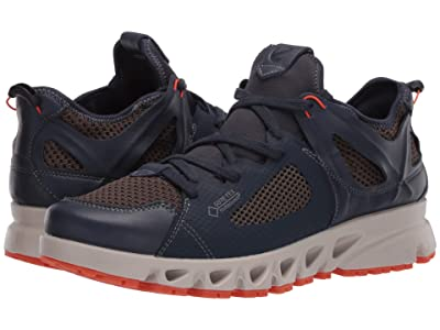 ECCO Sport Multi-Vent Air GORE-TEX(r) (Marine/Dark Clay/Pumpkin) Men