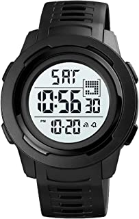 Mens Digital Sports Watch Large Face Military Watches for Men Waterproof Stopwatch Alarm Army Watch