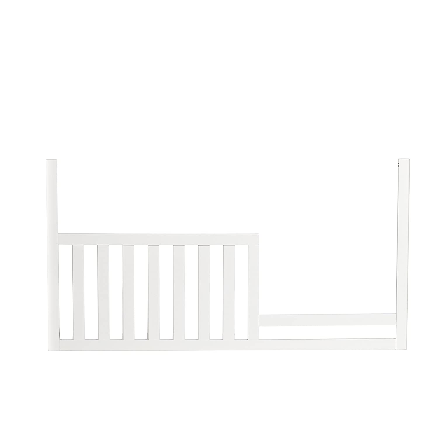 Suite Bebe -- Asher Guard Rail -- White -- Conversion Safety Rail For Toddler Beds - Wood - Non Toxic and Child Safe