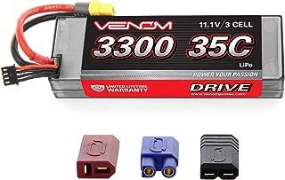 Venom 35C 3S 11.1V 3300mAh Hard Case LiPo Battery with Universal Plug (EC3/Deans/Traxxas/Tamiya)