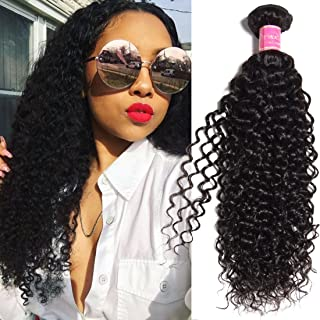 ALI JULIA Hair 1-pack Bundles 10A Malaysian Virgin Curly Hair Weft Unprocessed Human Hair Weft Extensions Natural Color (22 inch)