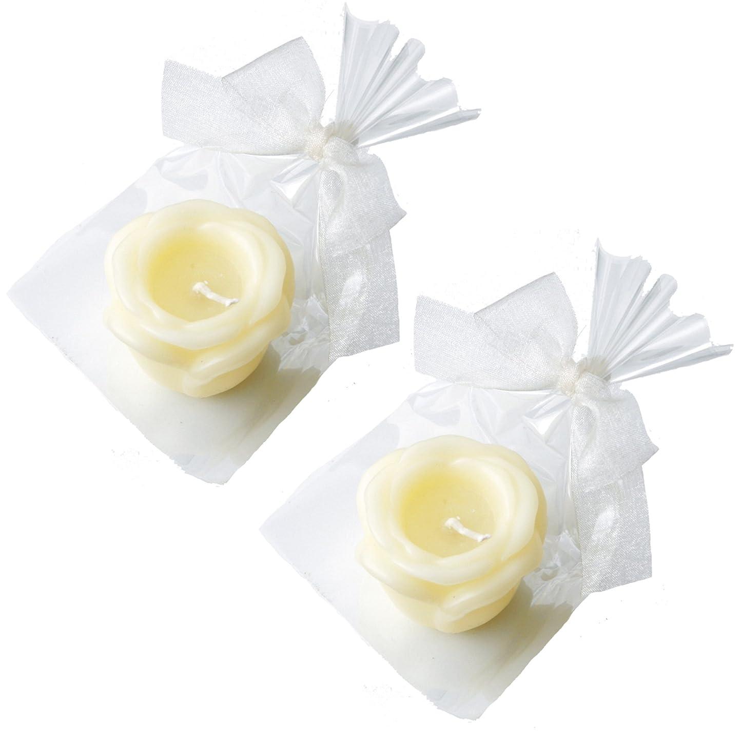 風光沢のある東ティモールカメヤマキャンドルハウス プチラビアンローズキャンドル 1個入 ローズの香り アイボリー ×2個セット