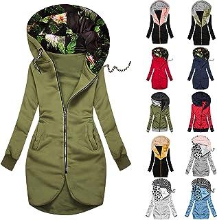 YfiDSJFGJ Zip Up Hoodie Women Sweatshirt Solid Color Hooded High Neck Zipper Pocket Oversized Shirts for Women