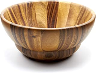 rustic wooden salad bowls