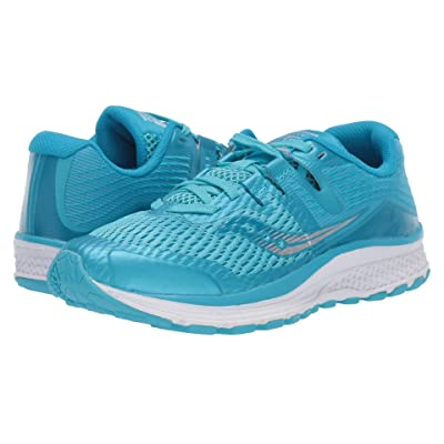 Saucony Kids Ride ISO (Little Kid/Big Kid) (Blue/White) Girls Shoes
