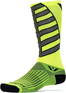 Swiftwick – Socks for Cycling, Vision Eight Team | Soft, Seamless Toe, Performance Compression Socks