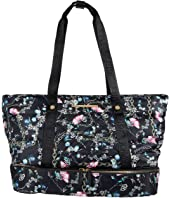 Joey Quilted Nylon Duffel with Yoga Mat Strap