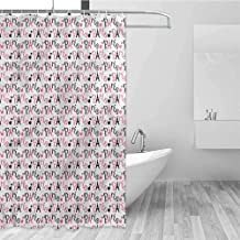 Shower Curtain Heavy Duty with 12 Grommet Holes and Stainless Hooks Waterproof Bathroom Shower Curtains Without Smell, 72 inch Long, 36