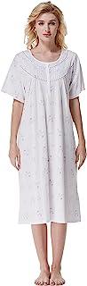 Cotton Women Nightgowns, Soft 100% Cotton Comfy...