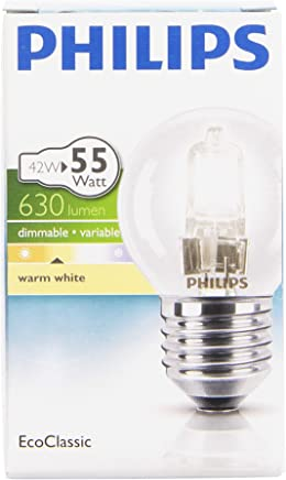 1 Bulb Free 3Pack 70W = 92 W GLS ES E27 Edison Screw Cap ECO Halogen A60 Energy Saving Dimmable Light Bulb 220-240v