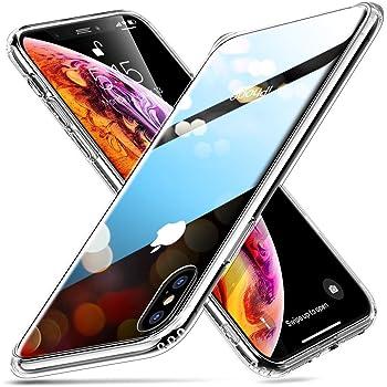 ESR iPhone Xs Max ケース ガラス背面 TPUバンパー 6.5インチ クリア