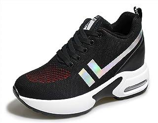 TQGOLD Womens Knit Platform Hidden Wedges Sneaker