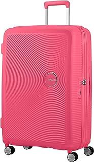 American Tourister Soundbox - Spinner L Espandibile Bagaglio a Mano, Spinner L (77 cm - 110 Litri), Rosa (Hot Pink)