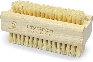 Hydrea London Extra Tough Wooden Nail Brush With Firm Cactus Bristles Dual Sided (3)