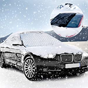 KOROSTRO KO17092602 Car Windshield Cover  Winter Protection Ice Film Magnetic Removable Dust Protector all Weather  183 116