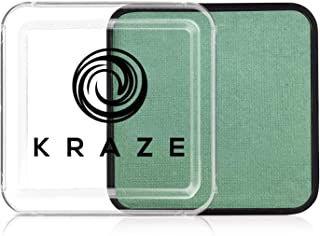 Kraze FX Square - Metallic Green Face Paint (25 gm) - Hypoallergenic, Non-Toxic, Water Activated Professional Face & Body ...