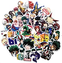 73pcs My Hero Academia Anime Cartoon Laptop Stickers,Waterproof Motorcycle Bicycle Luggage Decal Fan Stickers for Teens