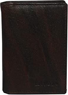 Laveri Genuine Leather Credit Card Holder Wallet Bill and Card Holder Unisex Wallet, Leather - Brown