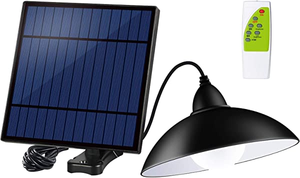 Acoala Solar Shed Lights Outdoor Indoor 12 LED Solar Pendant Light Lamp With Remote Control Brightness Adjustable 3m 9 84ft